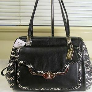 NEGOTIABLE! COACH PHYTON EMBOSSED SATCHEL.